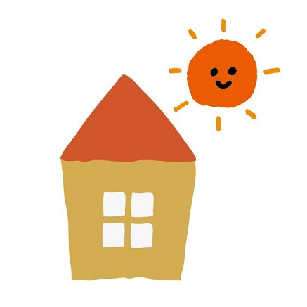日当たりの良い家イメージ