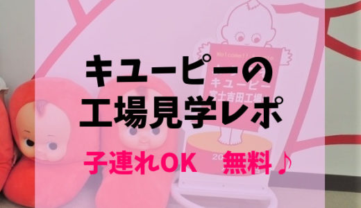 無料で子供と工場見学【キユーピー富士吉田工場】